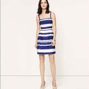 Loft blue and white striped dress Size 0